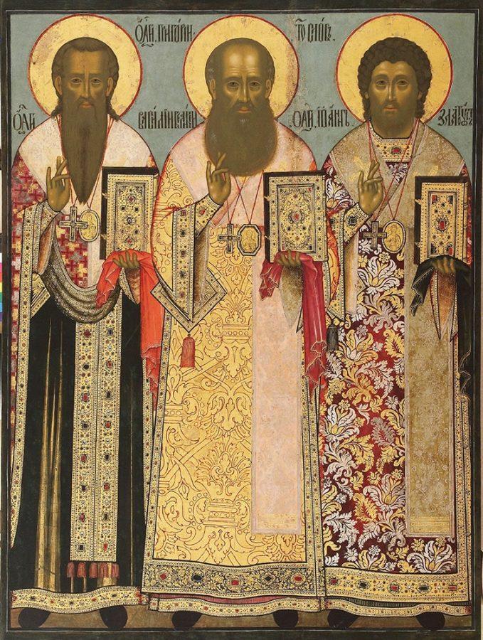 «Три святителя», середина XVIII века © Ярославский художественный музей