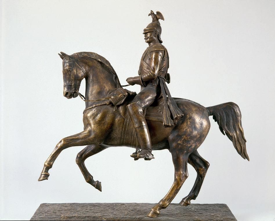Клодт П.К. Николай I. 1856. Первоначальная модель памятника конной статуи для памятника Николаю I в Петербурге © ГРМ
