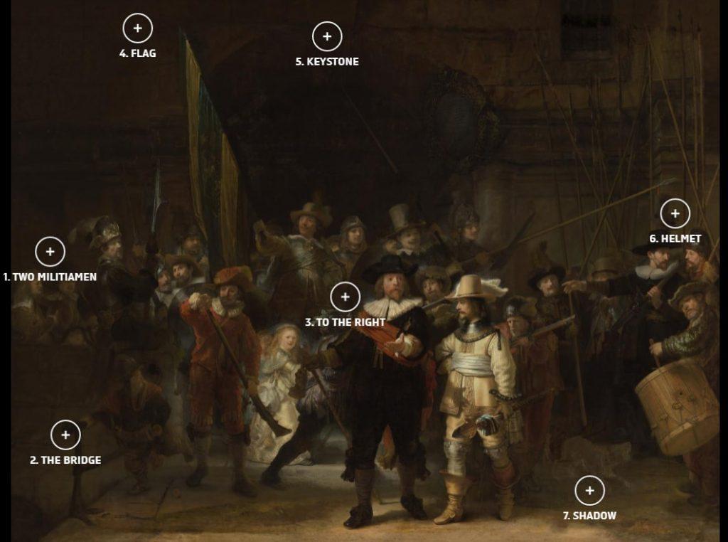 Утраченные детали «Ночного дозора» © Rijksmuseum