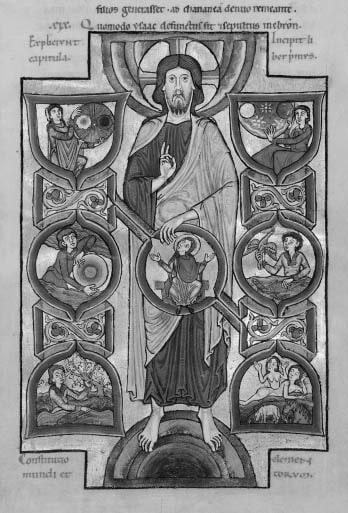 Сотворение мира. Иосиф Флавий. «Иудейские древности». (Париж, Национальная библиотека, MS. Lat. 5047, f. 2r), Сер. XII в. © НЛО