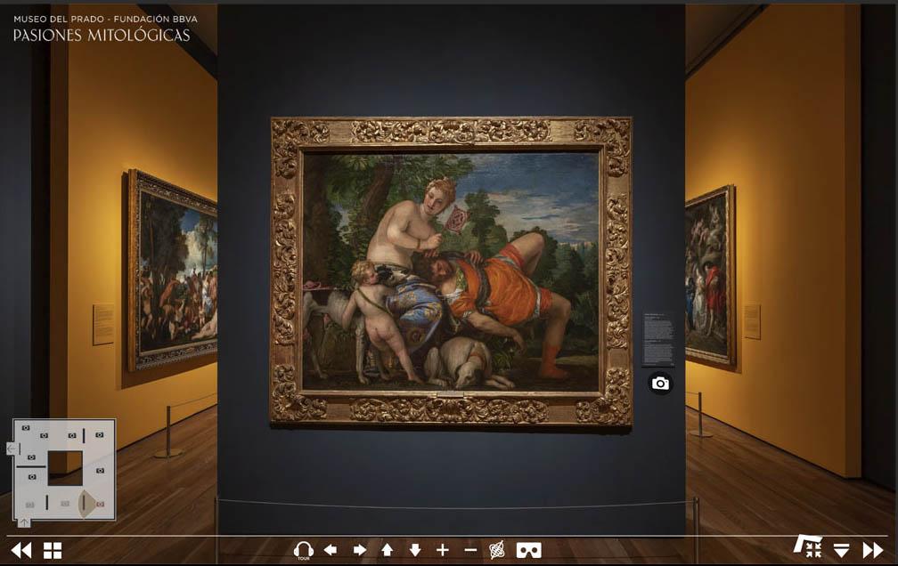 Виртуальный гид по выставке «Мифологические страсти» © Museo del Prado