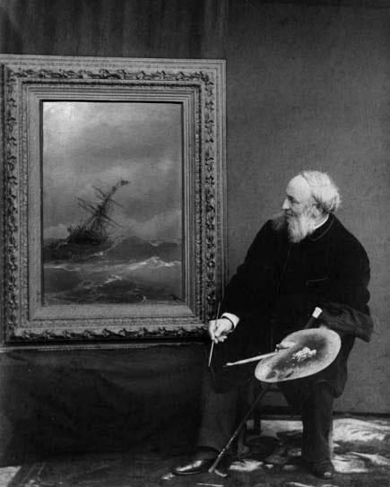 Фотоателье Хр. Бабаева «Портрет И. Айвазовского». Коллаж, 1887 © Ad Marginem