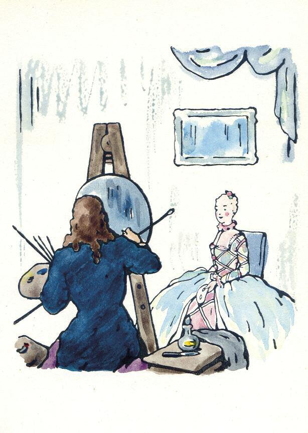 Дмитрий Бушен «Иллюстрация, раскрашенная от руки для книги А. де Ренье «Три рассказа» © Р. Герра. Публикуется впервые