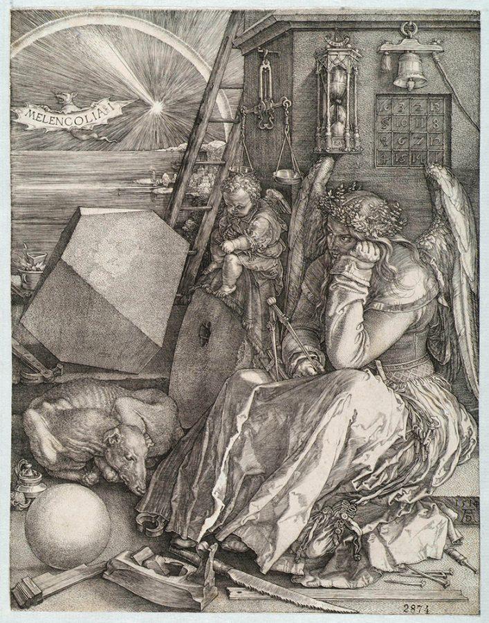 Альбрехт Дюрер «Меланхолия (Меланхолия I)». Германия, Нюрнберг, 1514 Пинакотека Тозио Мартиненго © ГИМ