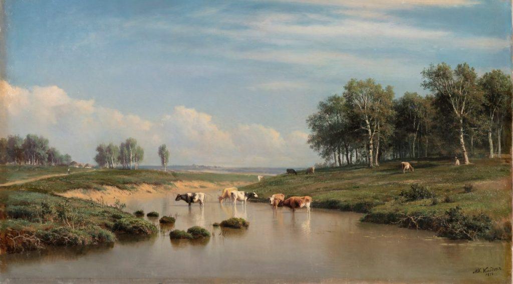 Клодт М. К. «Пейзаж с коровами», 1878 © ГРМ