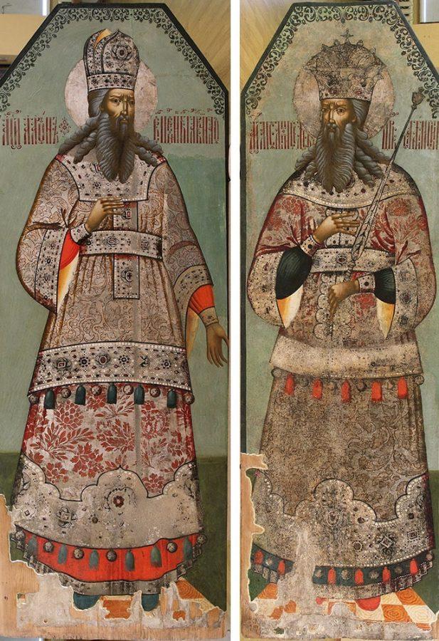 «Пророк Аарон» и «Праотец Мельхесидек», вторая половина XVIII века © Ярославский художественный музей