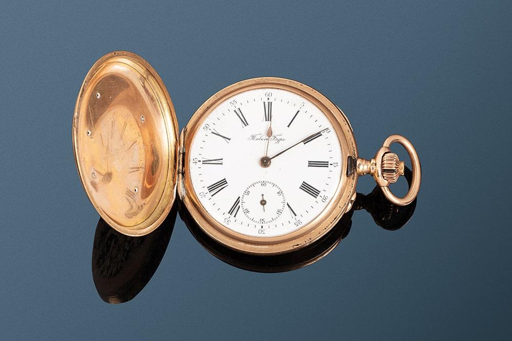 Карманные часы «Павел Буре», с выгравированной отметкой Поставщика Императорского Двора, эпохи Николая II (1896-1917) Эстимейт: €800-1.200
