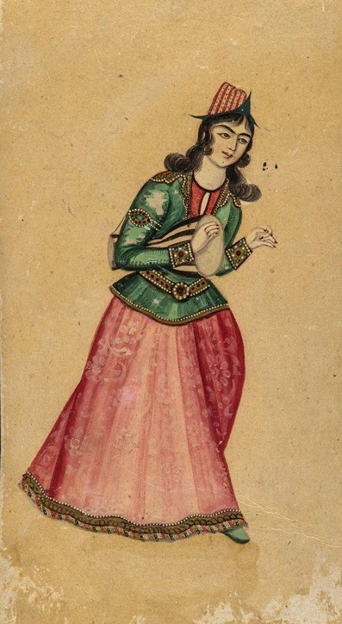 Миниатюра. Иран, первая треть XIX в. Картон, клеевые краски, лак © ГМВ
