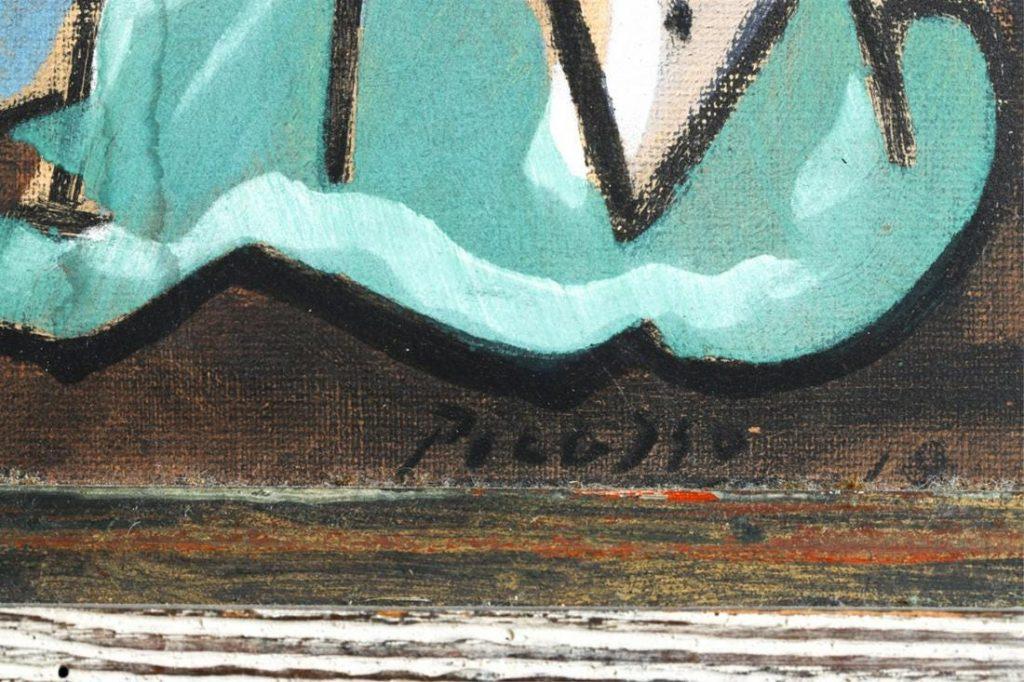 Пабло Пикассо «Треуголка», 1919. Фрагмент с подписью © liveauctioneers.com