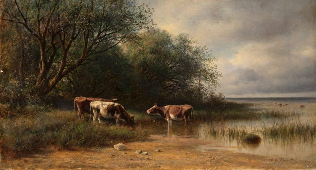 Клодт М.К. «Коровы под деревьями», 1870-е © ГРМ