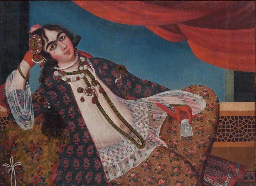 Неизвестный художник «Женщина у окна». Иран, XIX в. Холст, масло © ГМВ