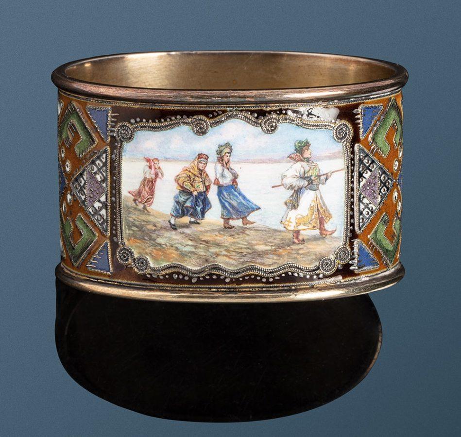 Кольца для салфеток, выполненные Федором Рюкертом для Фаберже Эстимейт: €2.000-3.000