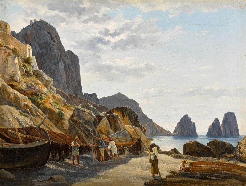 Сильвестр Щедрин «Рыбаки на Капри на фоне Фаральони»