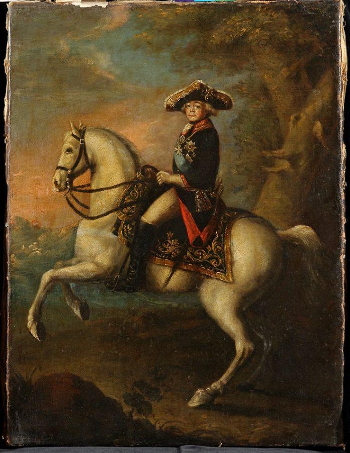 Неизвестный художник «Портрет императора Павла I на коне». Россия, Санкт-Петербург, вторая половина 1790-х. Холст, масло © ИЗО, ГИМ