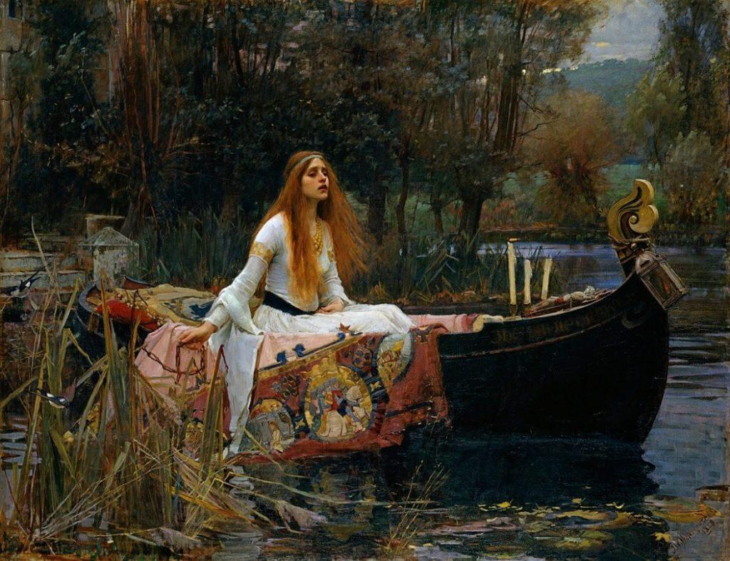 Джон Уильям Уотерхаус «Волшебница Шалот»,1888 Британская галерея Тейт, Лондон © Tate