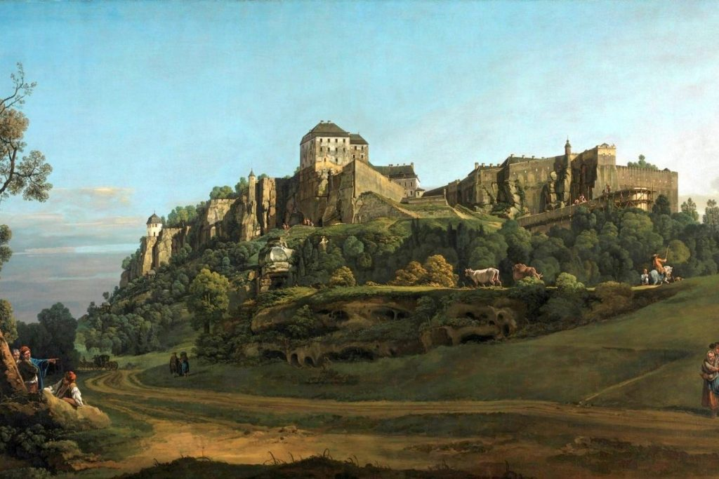 Бернардо Беллотто «Крепость Кёнигштайн, вид с севера», 1758 © National Gallery