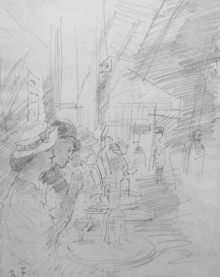 Роберт Фальк «В Парижском кафе», середина 1930-х годов. Частное собрание, Москва © Арт Волхонка