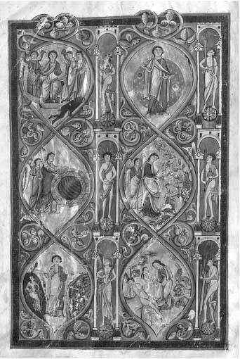 Сотворение мира. Библия Гумперта (Erlangen, Univer sitat bibliotek, cod. 121, f. 5v) © НЛО