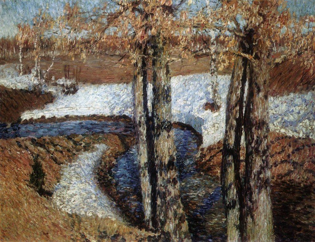 И.Э. Грабарь «Вешний поток», 1895 © ГРМ