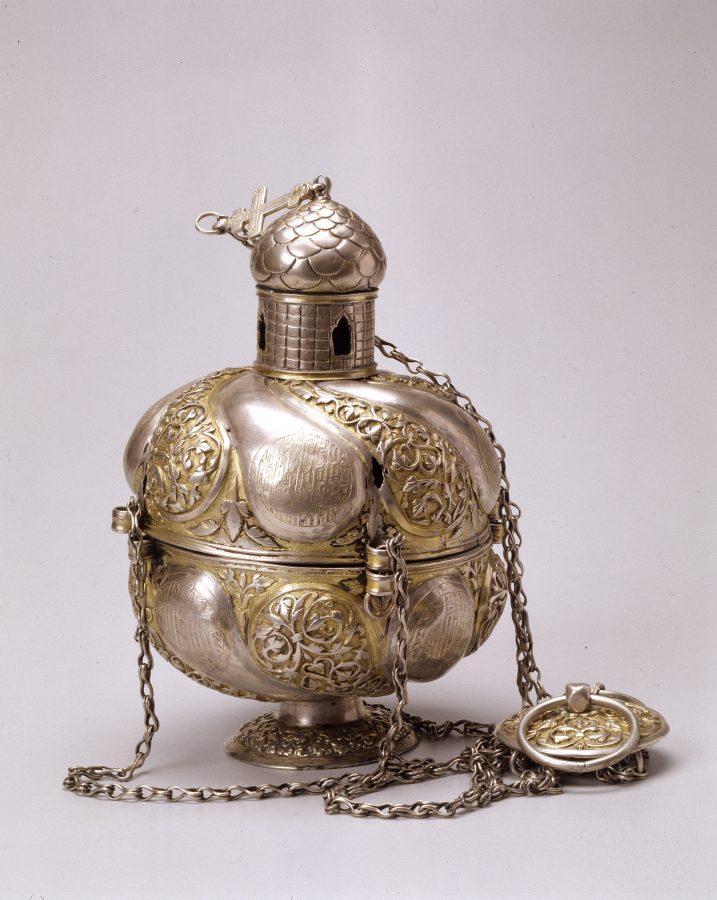 Кадило. Москва. Мастерские Кремля, 1645. Серебро, медь, золочение; чеканка, резьба © ГИМ