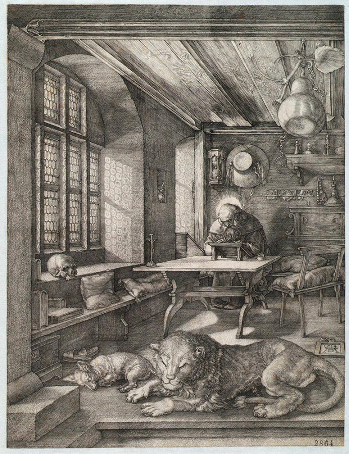 Альбрехт Дюрер «Святой Иероним в келье». Германия, Нюрнберг, 1514 Пинакотека Тозио Мартиненго © ГИМ