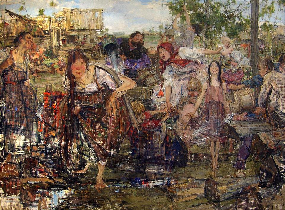 Н.И. Фешин «Обливание», 1914. Эскиз © Государственный музей изобразительных искусств Республики Татарстан