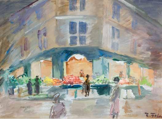 Роберт Фальк «Зеленая лавка в Париже», 1933. Частное собрание. Публикуется впервые © Арт Волхонка