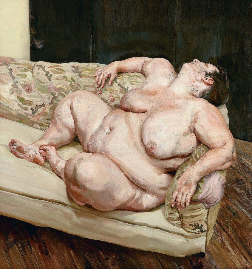 Люсьен Фрейд «Социальный работник отдыхает», 1994 Частная коллекция © Издательство «Слово/Slovo»