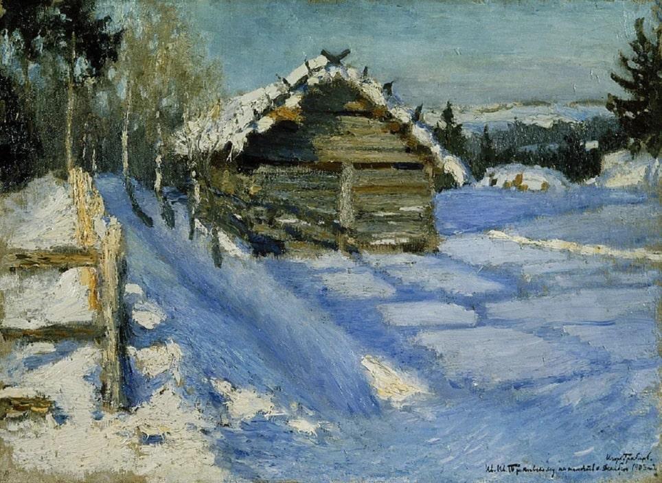 И.Э. Грабарь «Зимний вечер», 1903 © ГРМ