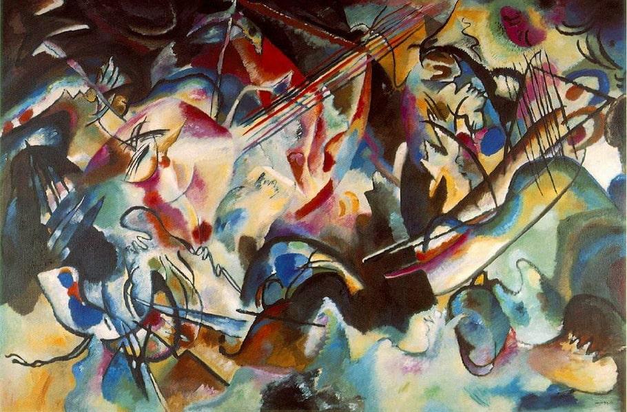 Лот NFT-аукциона — «Композиция VI» Василия Кандинского © Государственный Эрмитаж