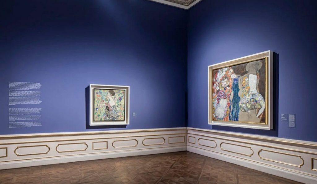 Зал музея «Верхний Бельведер» с картинами Густава Климта © Belvedere, Wien