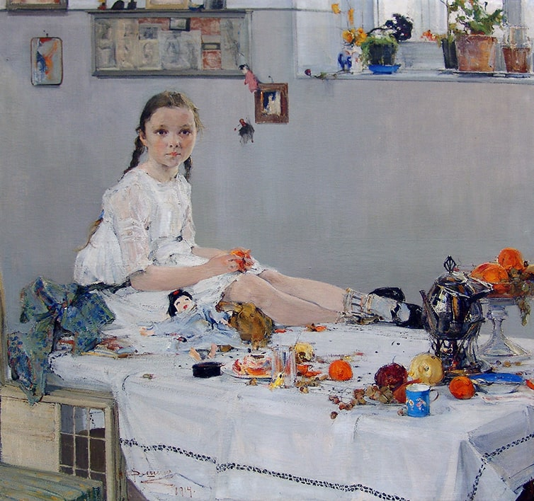Н.И. Фешин «Портрет Вари Адоратской», 1914 © Государственный музей изобразительных искусств Республики Татарстан