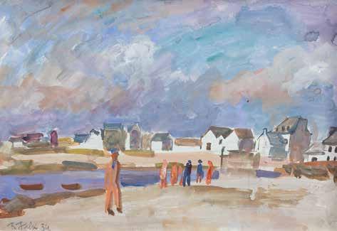 Роберт Фальк «Бретань. На берегу океана», 1934. Частное собрание, Москва © Арт Волхонка