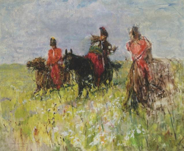 Валентин Серов «Запорожские казаки в степи»