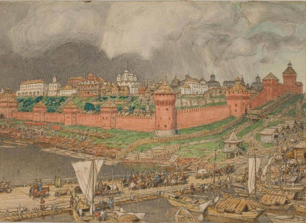 А.М. Васнецов «Московский Кремль при Иване III», 1921 © Музей Москвы