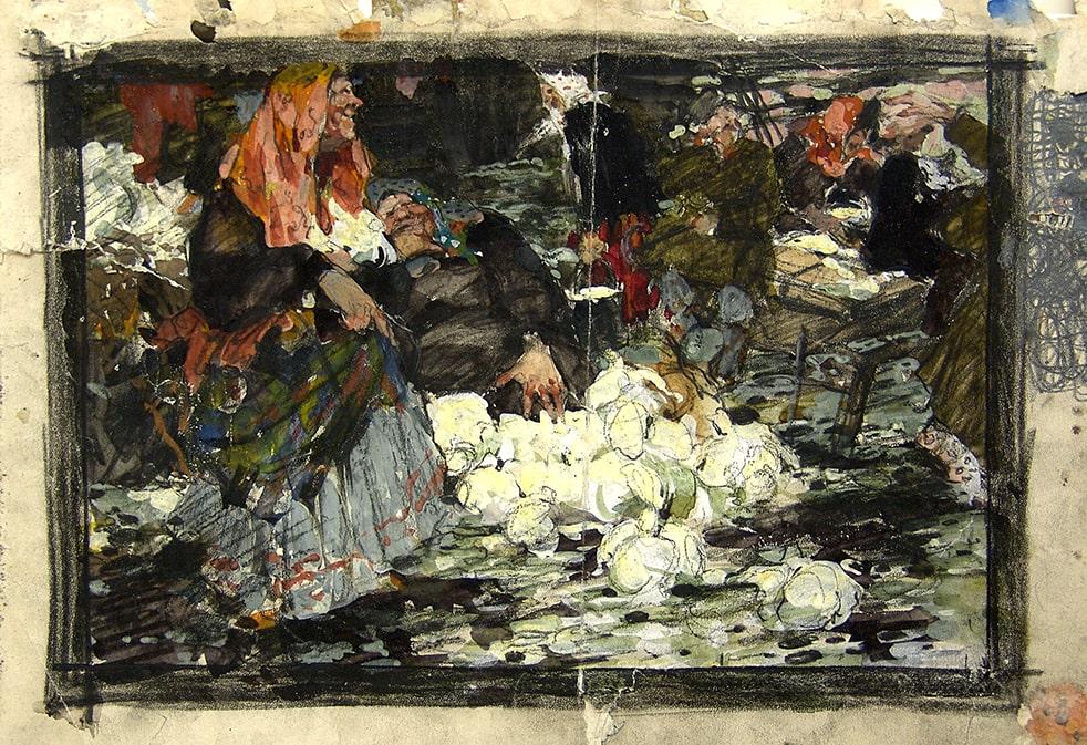 Н.И. Фешин «Капустница», 1909 © Государственный музей изобразительных искусств Республики Татарстан