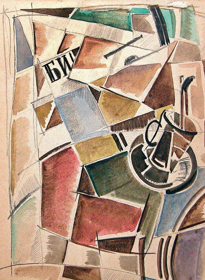 Этюд к натюрморту. Лист из альбома середины 1910-х © Искусство — XXI век