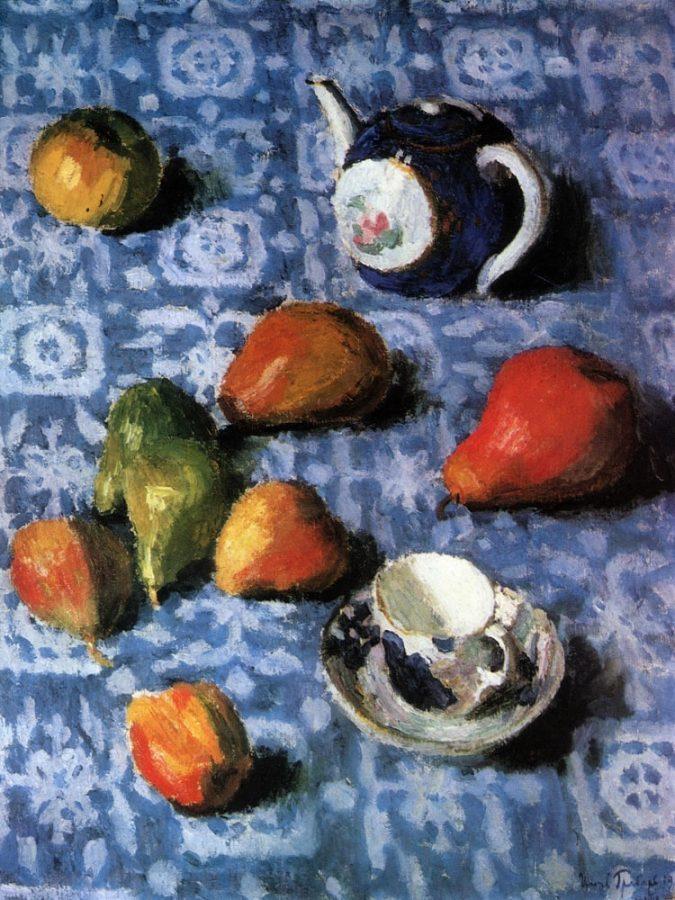 И.Э. Грабарь «Груши на синей скатерти», 1915 © ГРМ