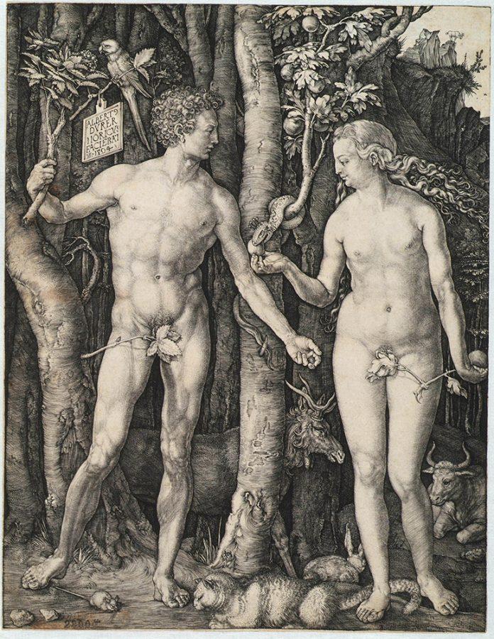 Альбрехт Дюрер «Адам и Ева». Германия, Нюрнберг, 1504 Пинакотека Тозио Мартиненго © ГИМ