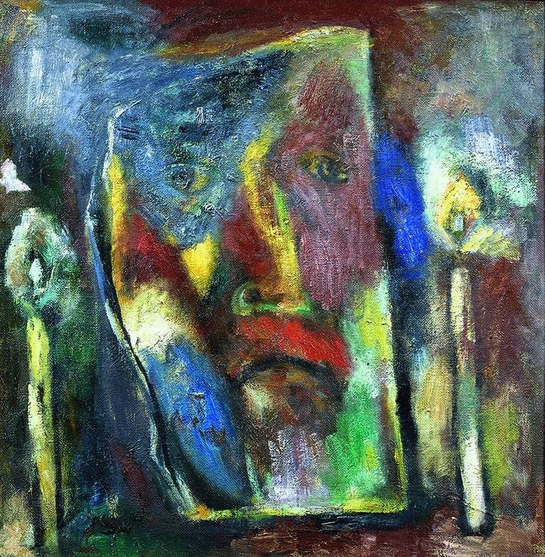 Виталий Тюленев «Автопортрет с двумя свечами»
