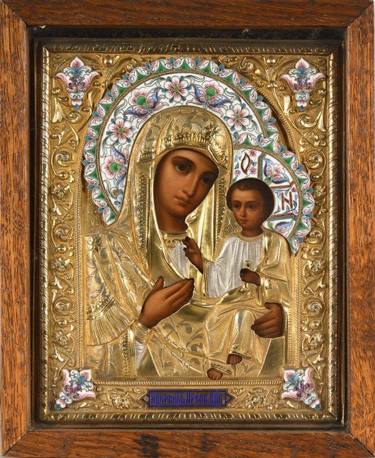 Иверская икона Пресвятой Богородицы Эстимейт: €1.500-2.000