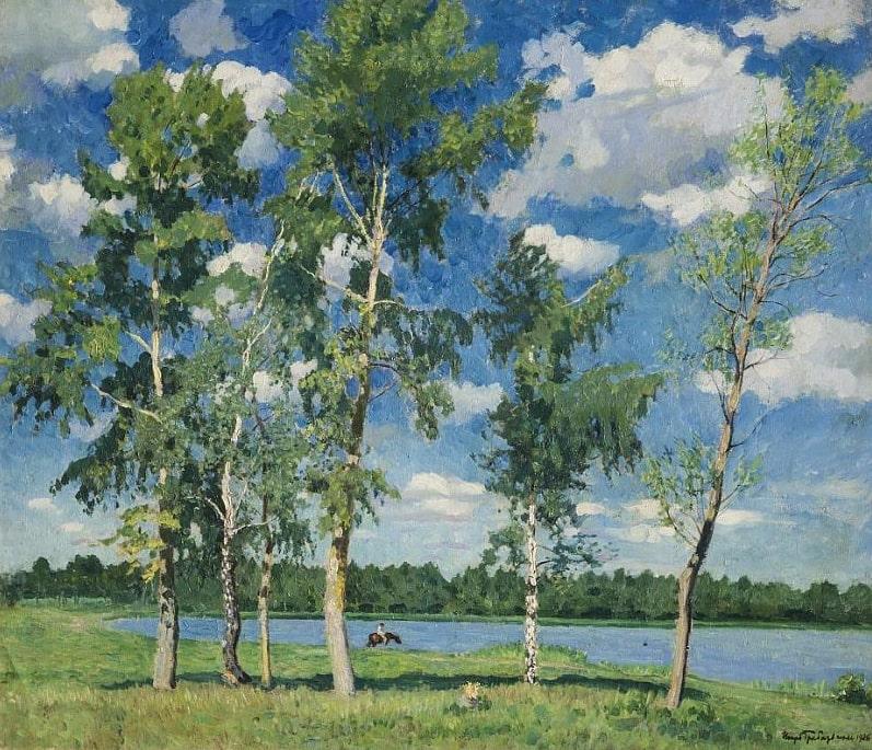 И.Э. Грабарь «На озере», 1926 © ГРМ