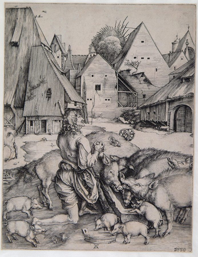 Альбрехт Дюрер «Блудный сын». Германия, Нюрнберг, около 1496 Пинакотека Тозио Мартиненго © ГИМ