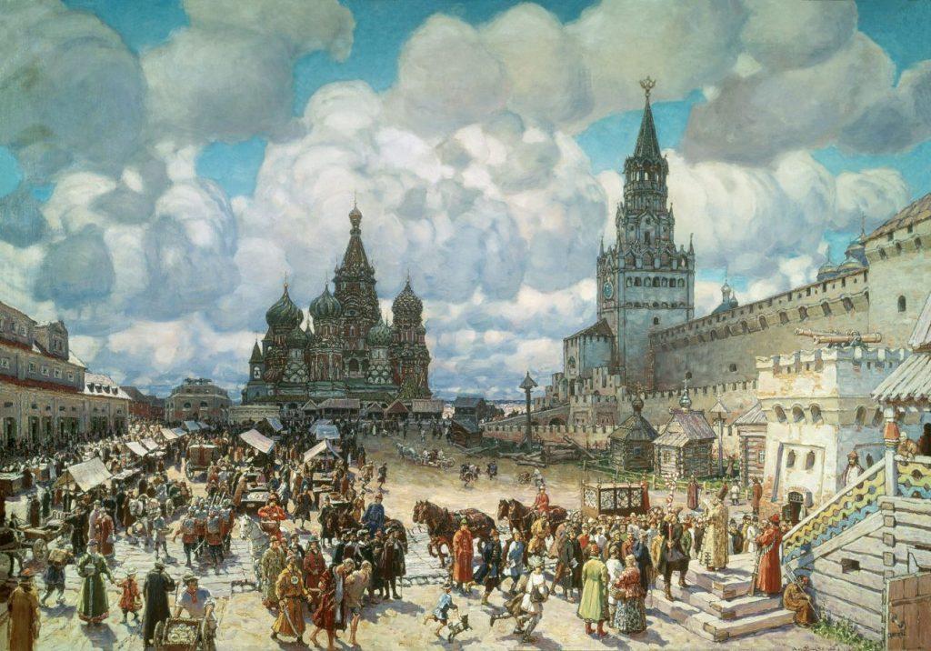 А.М. Васнецов «Красная площадь во второй половине XVII века», 1925 © Музей Москвы