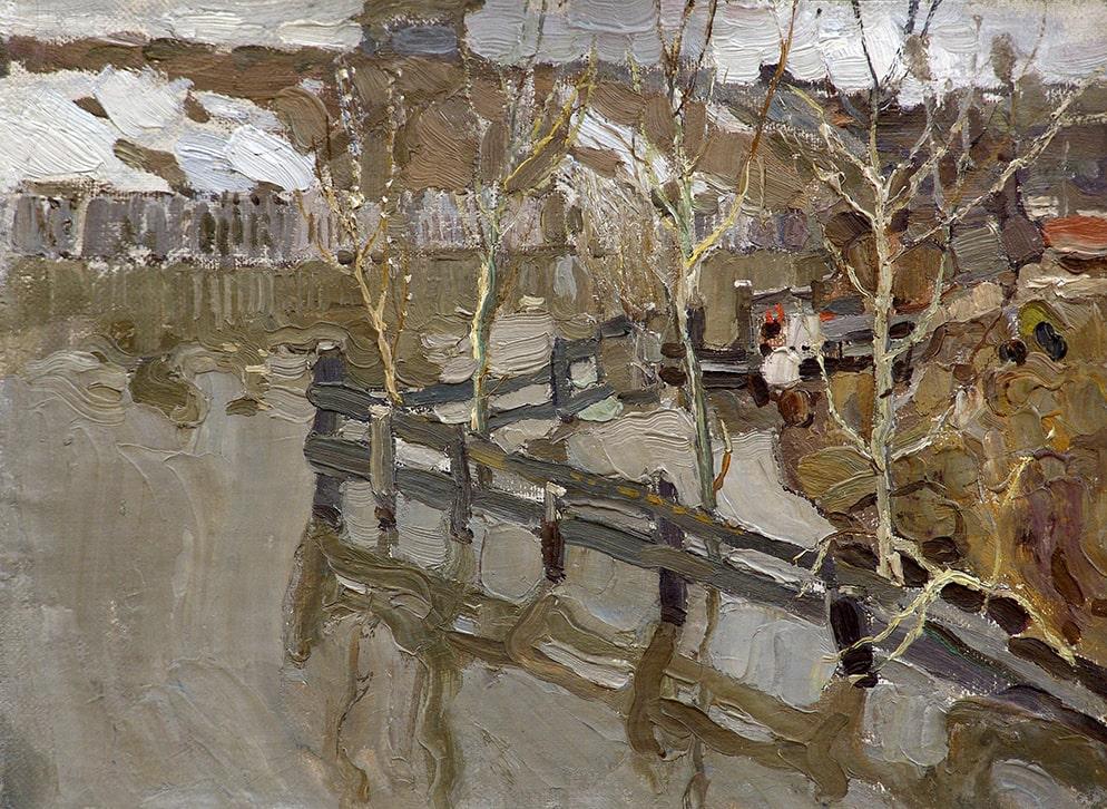 Н.И. Фешин «Оттепель», 1910-е © Государственный музей изобразительных искусств Республики Татарстан