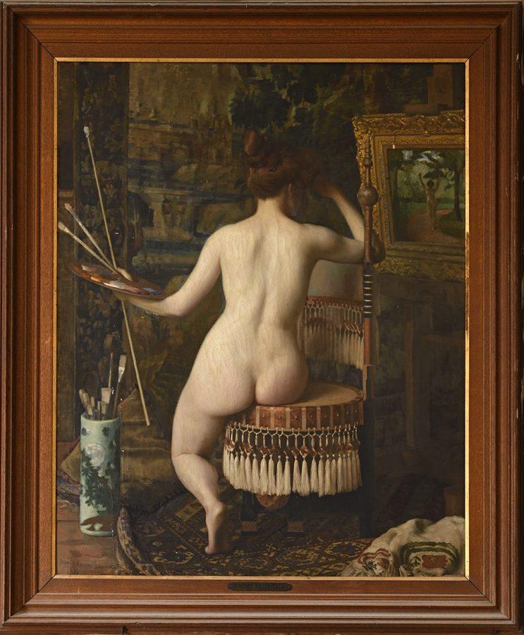 Дмитрий Дмитриевич Кузнецов «Отдых модели», 1895 Эстимейт: €3.000-5.000