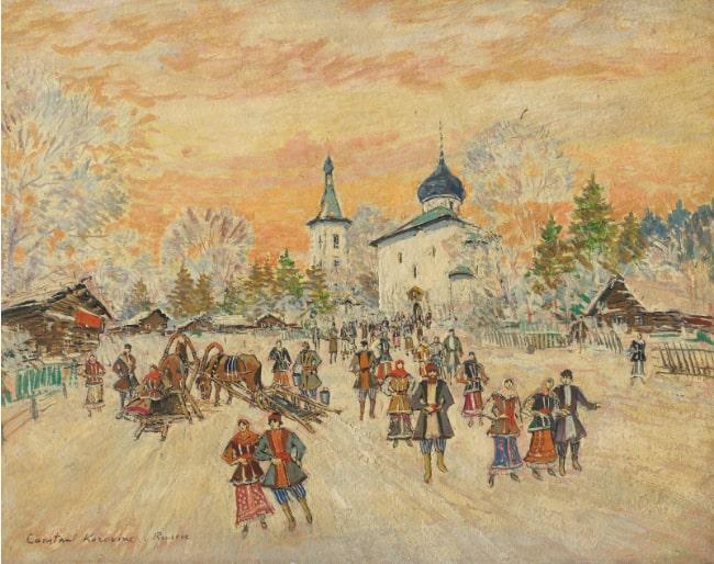 Константин Коровин «После праздничной службы»