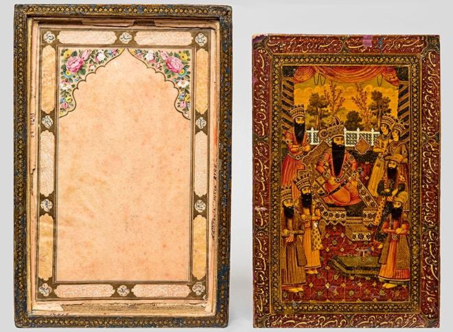 Футляр для зеркала. Иран, 1263 г.х/1846. Папье-маше, темперные краски, живопись, лак © ГМВ