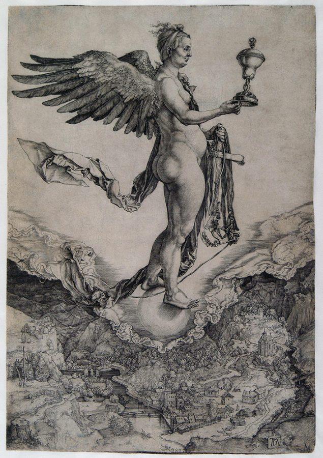 Альбрехт Дюрер «Немезида». Германия, Нюрнберг, около 1502 Пинакотека Тозио Мартиненго © ГИМ