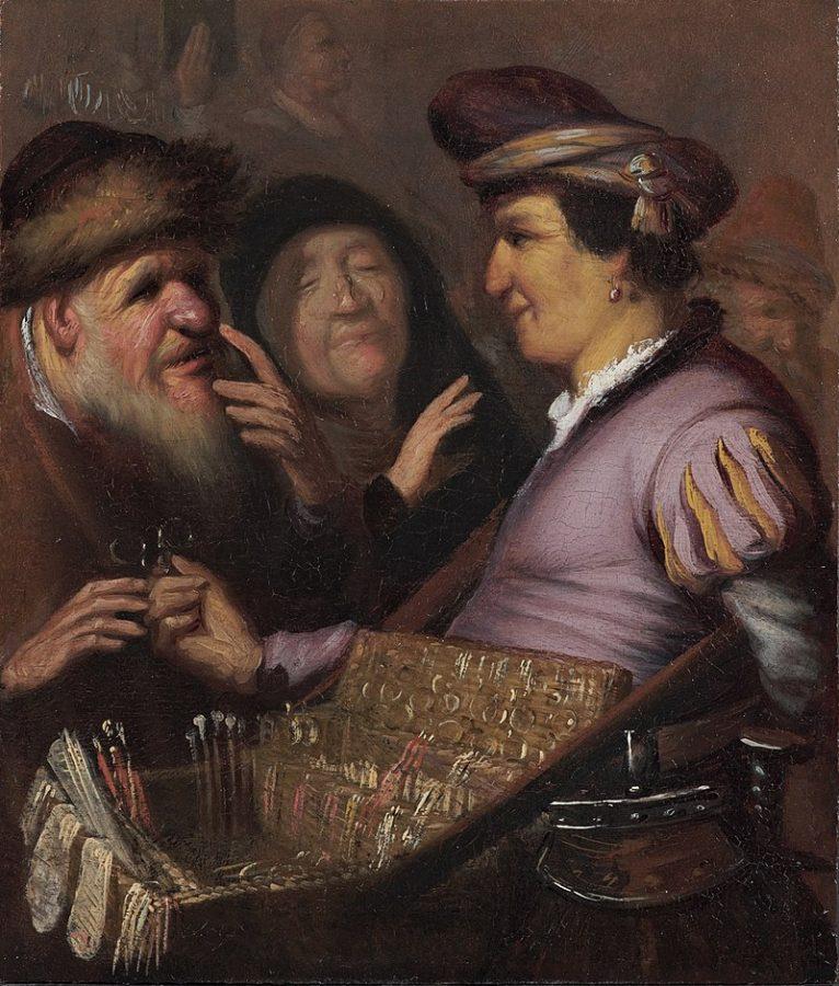 Рембрандт Харменсван Рейн «Продавец очков (Зрение)», 1624 © Музей Лакенхал, Лейден
